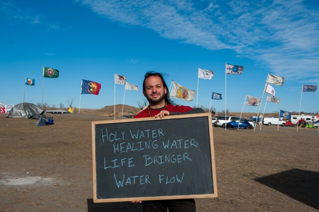 Donovan Arthen at Standing Rock