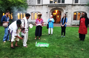 Mesoamerican indigenous ceremony at Union Theological Seminary